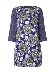White Stuff Sparkle Flower Tunic Blue