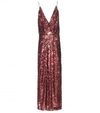 Tom Ford Sequin Embellished Gown Metallic