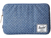 Herschel Anchor Sleeve 11 Limoges Crosshatch White Polka Dot Computer Bags Blue