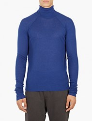Haider Ackermann Blue Turtleneck Long Sleeved T Shirt