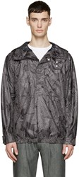 Helmut Lang Black And White Labyrinth Anorak Jacket