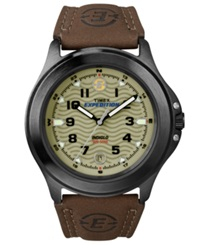 Timex Watch Men's Expedition Metal Field Brown Leather Strap T47012um