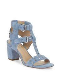 424 Fifth Letha Suede Studded Sandals Blue