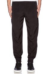 Atm Anthony Thomas Melillo Pull On Faille Track Pants Black