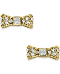 Kate Spade New York 12K Gold Plated Pave Bow Stud Earrings