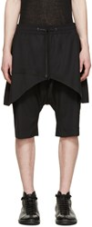 D.Gnak By Kang.D Black Layered Traditional Line Shorts