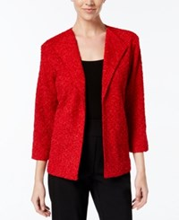 Alfred Dunner Sequined Boucle Jacket Red