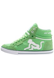 Drunknmunky Boston Classic Hightop Trainers Green Mineral