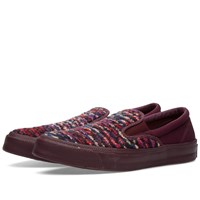 Converse X Missoni Chuck Taylor Deck Star Slip On Burgundy