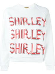 Peter Jensen 'Shirley' Sweatshirt White