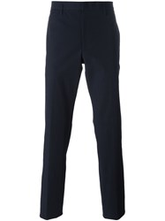 Jil Sander Straight Tailored Trousers Blue