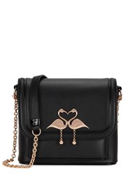 Sophia Webster Claudie Major Medium Leather Shoulder Bag Black