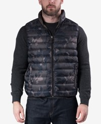 Hawke And Co. Outfitter Outfitters Men's Big Tall Reversible Puffer Vest Geo Camo Dark Taupe
