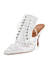 Givenchy Maremma Leather And Lace 90Mm Mule White Women's