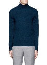 Theory 'Donners Tn' Cashmere Turtleneck Sweater Blue