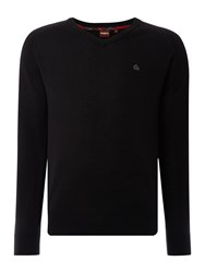 Merc Men's Conrad V Neck Jumper Black