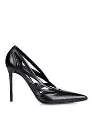 Balenciaga Spider Laser Cut Leather Pumps
