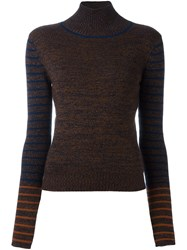 See By Chloe High Neck Jumper Blue