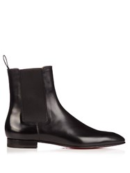 Christian Louboutin Roadie Leather Chelsea Boots Black