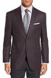 Men's Big And Tall David Donahue 'Conner' Classic Fit Solid Stretch Wool Sport Coat Burgundy