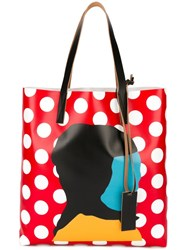 Marni Ekta Print Shopper Tote Red