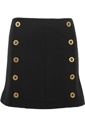 Chloe Embellished Wool Pique Mini Skirt Black