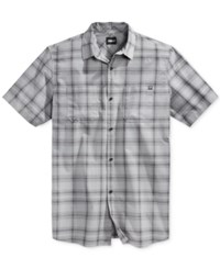 Fox Men's Rando Plaid Short Sleeve Shirt Grey