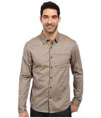 Arc'teryx Astute L S Shirt Dark Moss Men's Long Sleeve Button Up Brown