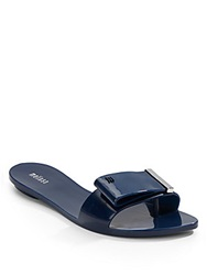 Melissa Lovely Patent Leather Slides Navy