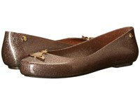 Vivienne Westwood Anglomania Melissa Space Love Gold Gold Women's Shoes