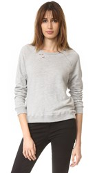 Sundry Ripped Sweatshirt Heather Grey