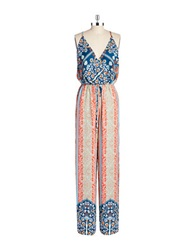Ark And Co Patterned Jumpsuit Navy Multi