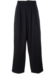 Yohji Yamamoto Loose Fit Long Trousers Black