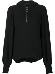 Y's 'Gathered Hooded' Blouse Black