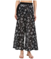 Proenza Schouler Palazzo Pants Cover Up Black White