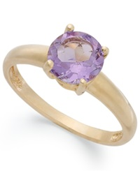 Victoria Townsend 18K Gold Over Sterling Silver Ring Amethyst February Birthstone Ring 1 1 3 Ct. T.W