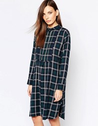 Just Female Free Shirt Dress Blue Check