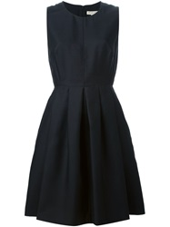 Burberry London Sleeveless Pleated Dress Black