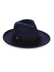 Vince Camuto Wool And Lace Hat Navy