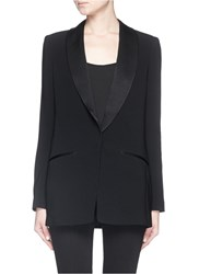 Elizabeth And James 'Morin' Satin Lapel Crepe Blazer Black