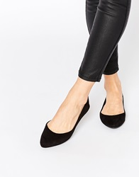 New Look Pointed Flat Slipper Shoe Black