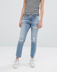 Noisy May Scarlet Destroy Boyfriend Jeans Length 32 Blue