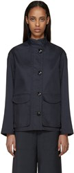 Christophe Lemaire Navy Water Repellent Jacket