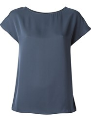 Theory Boat Neck T Shirt Blue
