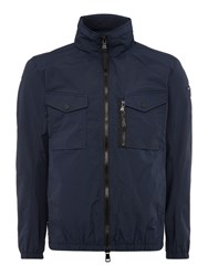Duck And Cover Crome Light Weight Utility Jacket Navy
