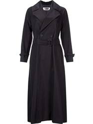 H Beauty And Youth. Long Trenchcoat Black