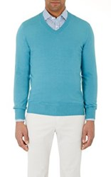 Fioroni Men's Cashmere Sweater Turquoise