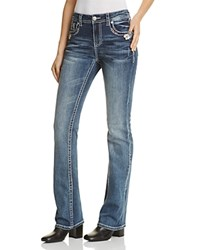 Grace In La Floral Embroidered Jeans Medium Blue Compare At 79