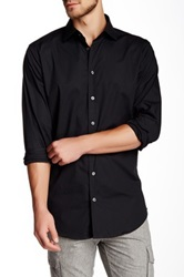 14Th And Union Trim Fit Cotton Stretch Dress Shirt Black