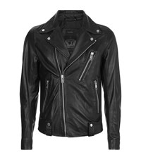 Diesel Leather Biker Jacket Male Black